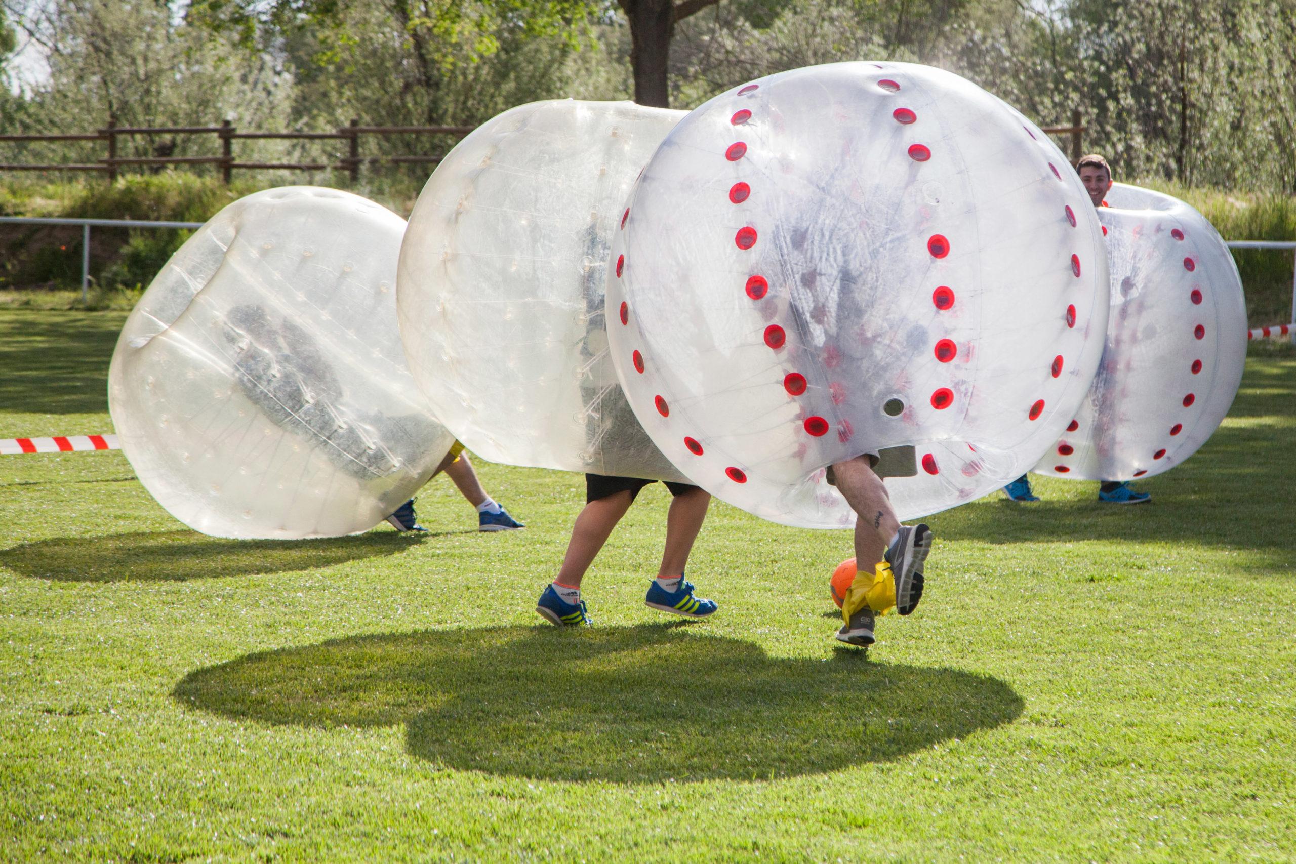 Fútbol Burbuja para actividad original despedidas